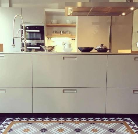 alfombra mosaico azulejo cocina