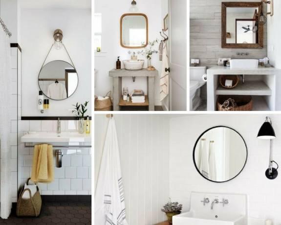 espejos decorativos blanco dorado y redondo