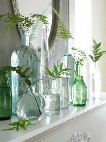 botellas bonitas en la decoración de tu casa