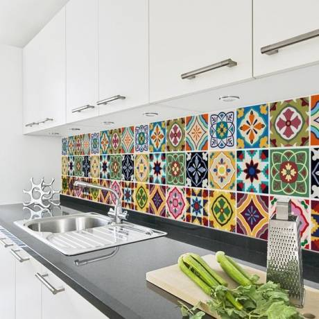 vinilos decorativos de pared en la cocina