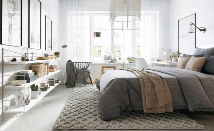 Diez ideas para decorar tu dormitorio con un relleno nórdico