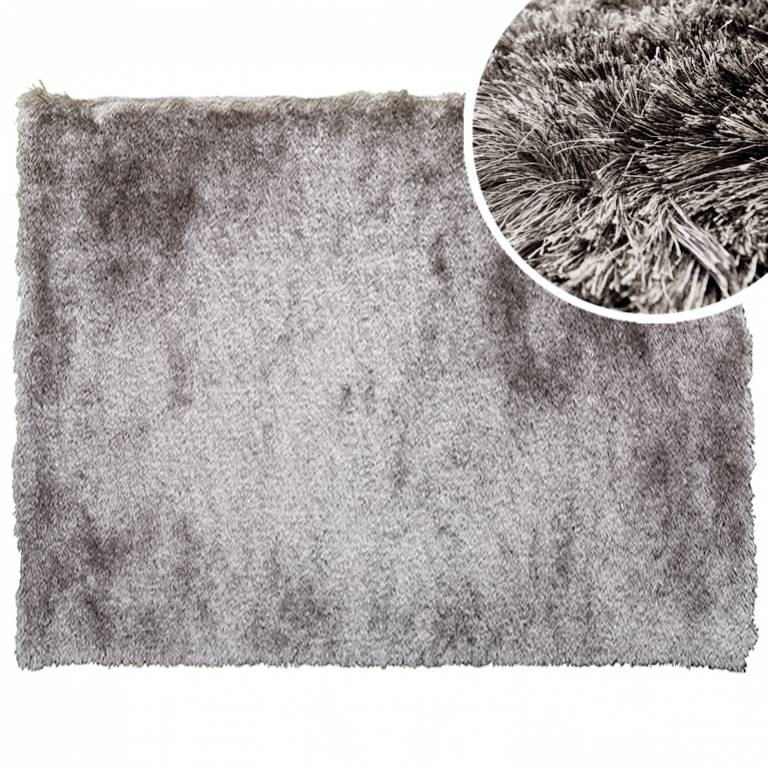 Alfombra de pelo semi-largo Stone (070x140 cm, gris)