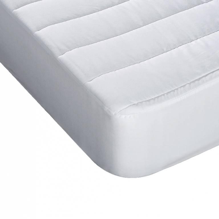 Protector de colchón 100% algodón Alaiz (blanco, Cama 150: 150x190 cm)