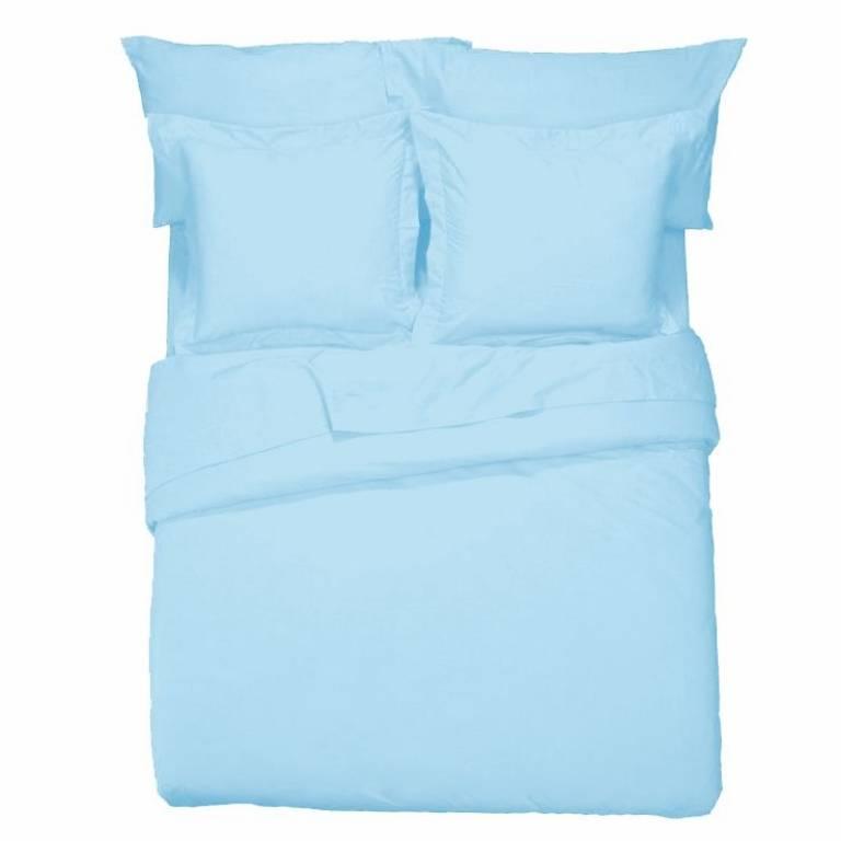 Sábana encimera Básicos (azul, Cama 135: 135x270 cm)