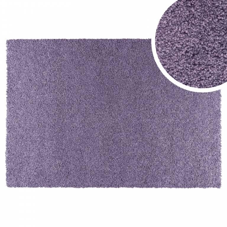 Alfombra tipo moqueta Hamilton (redonda 080 cm, violeta)