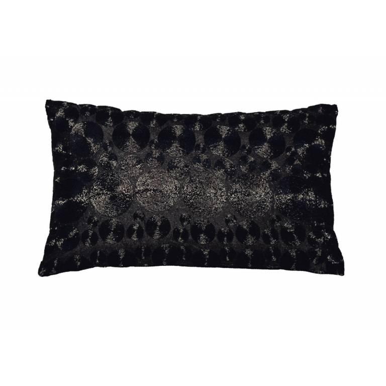 Funda cojin Solga (negro, 30x50 cm)