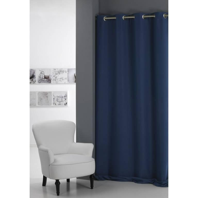 Cortina confeccionada oscurante Mahón (azul, 140x260 cm)