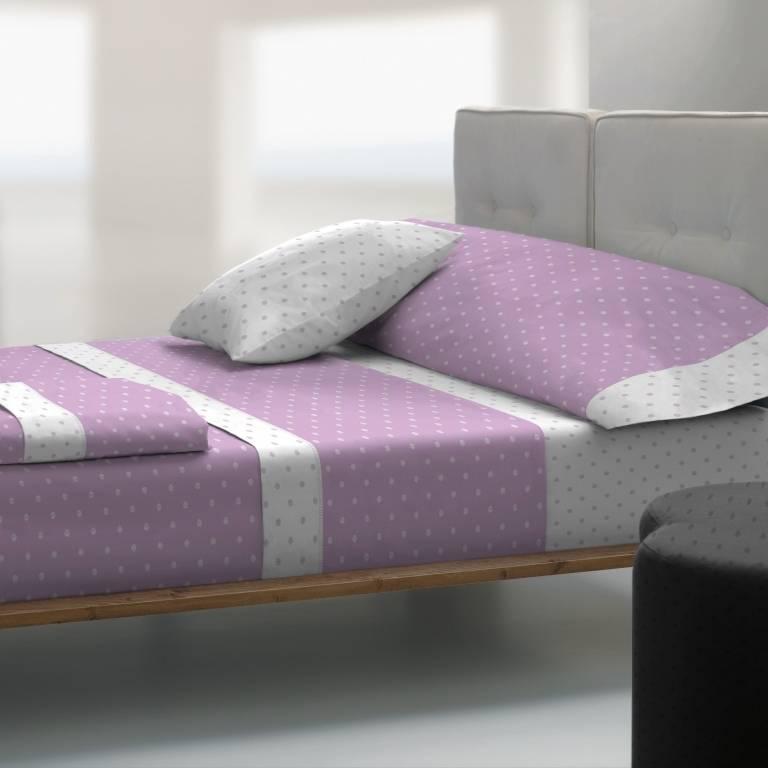 Juego de sábanas de Tolrá T-2911 (lila, Cama 135: 135x200cm)