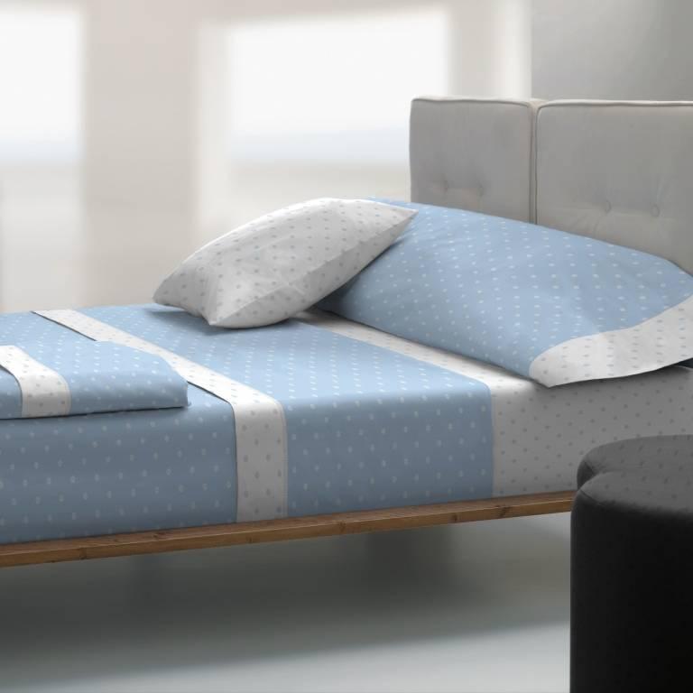 Juego de sábanas de Tolrá T-2911 (azul, Cama 090: 090x200 cm)