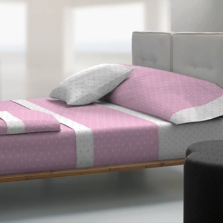 Juego de sábanas de Tolrá T-2911 (rosa, Cama 150: 150x200 cm)