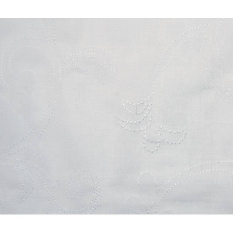 Tejido bordado Aurea (blanco, Ancho 280)