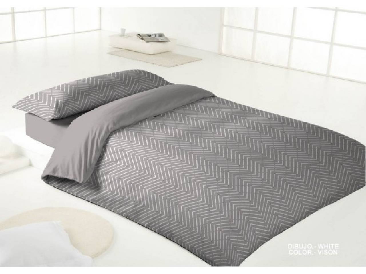 Funda n rdica white vis n cama 150 bertha hogar for Funda nordica cama 150