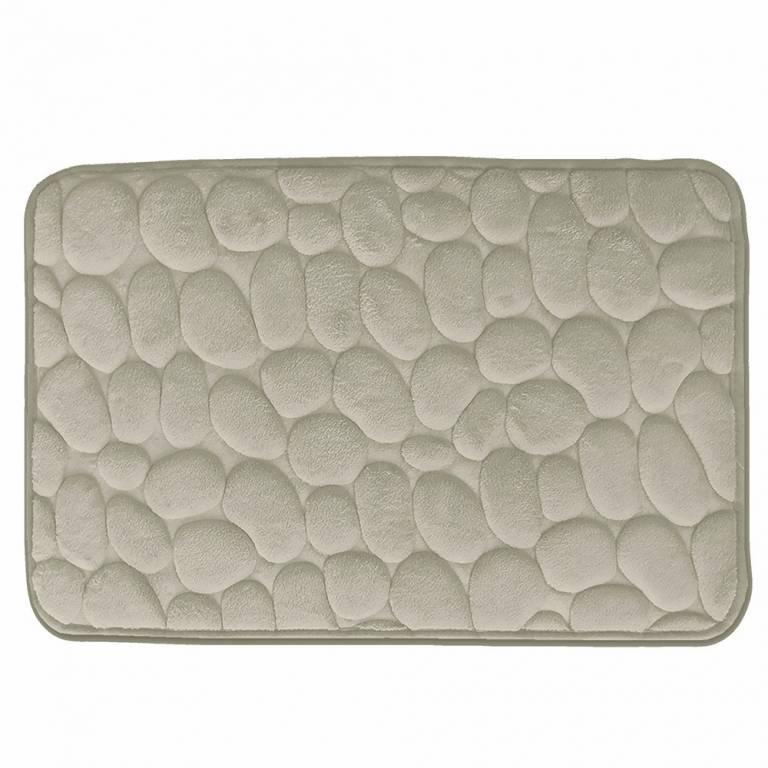 Alfombra de baño Piedras antideslizante (beige, 40x60 cm)
