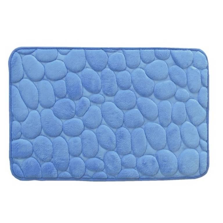 Alfombra de baño Piedras antideslizante (azul, 40x60 cm)