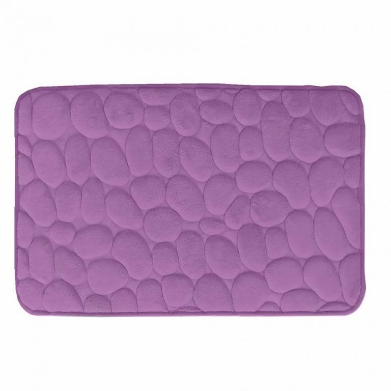 Alfombra de baño Piedras antideslizante (lila, 40x60 cm)