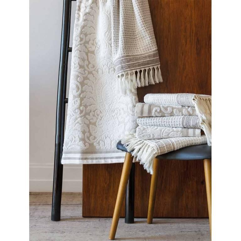 Toalla Elisabeth beige jacquard (beige, Tocador)