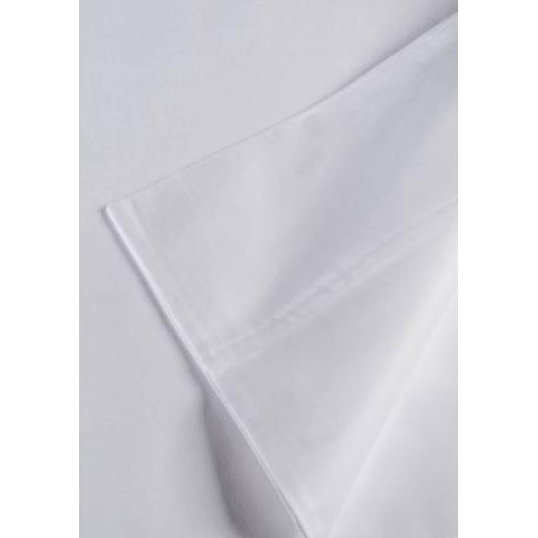 Sábana encimera blanca 100% algodón (blanco, Cama 150)