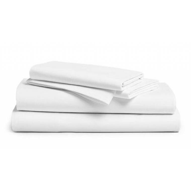 Sábana encimera blanca 50% algodón 50%poliéster (blanco, Cama 090)