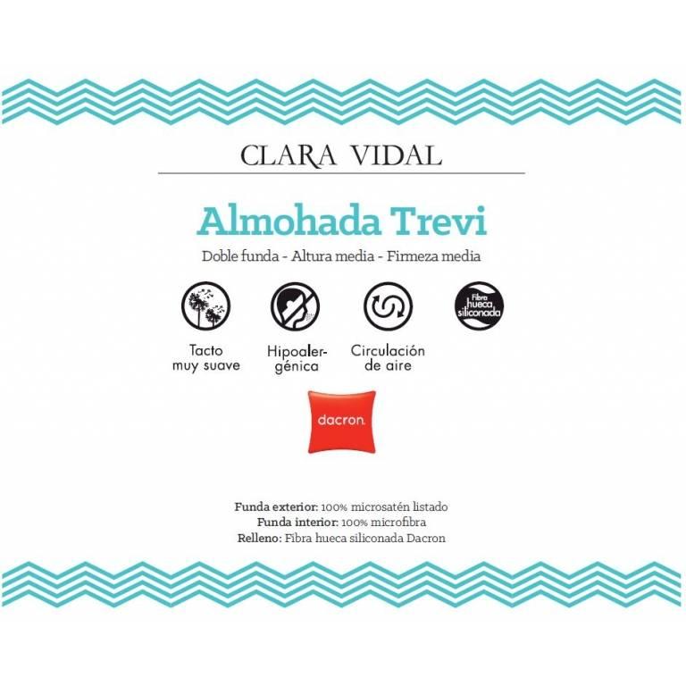 Almohada Trevi de Clara Vidal (blanco, 40x105 cm)