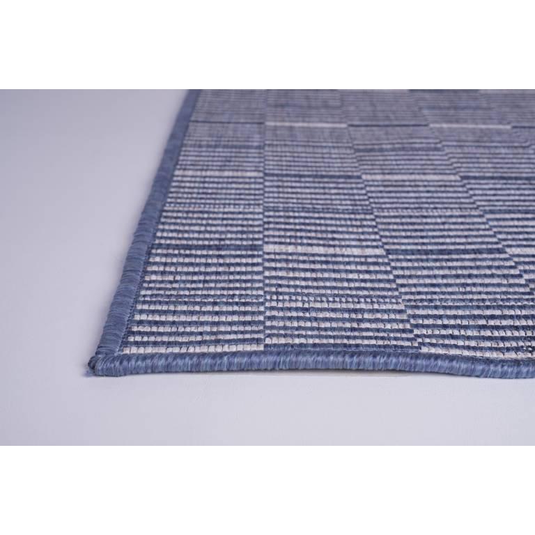 Alfombra mezcla yute Gestel (azul, 080x150 cm)