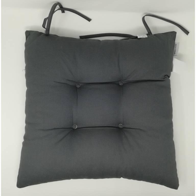 Cojín de silla Phelps 40x40 cm (gris, 40x40 cm)