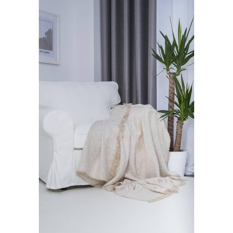 Manta de sofá plaid Gesbel (beige, 130x170 cm)
