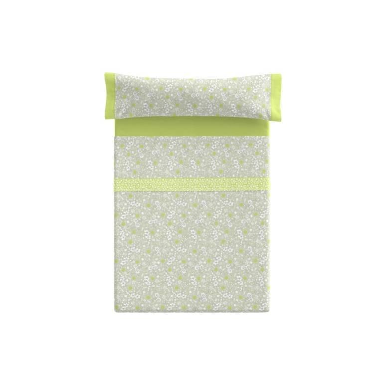Juego de sábanas Heider (verde, Cama 090)