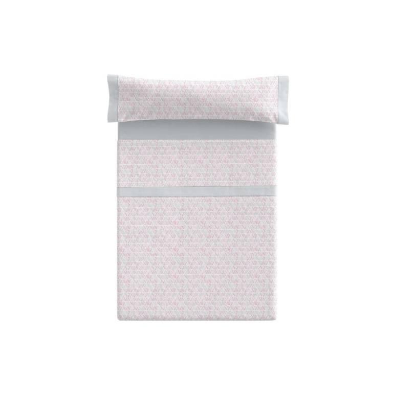Juego de sábanas Aleda (rosa, Cama 150)
