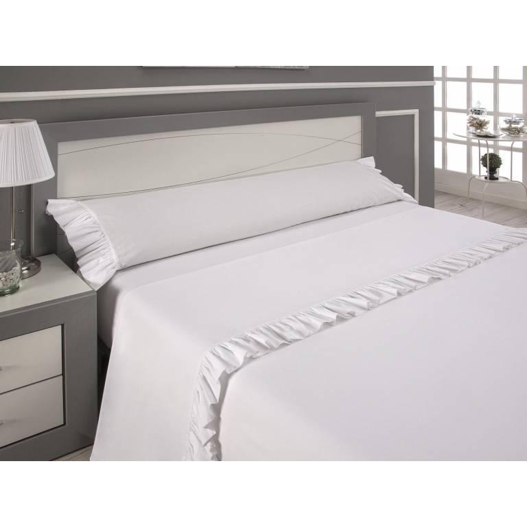 Juego de sábanas Soraya (blanco, Cama 135)