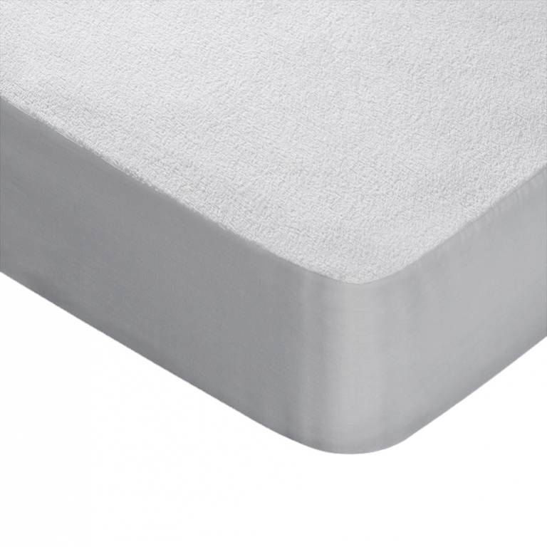 Protector colchón Rizo-Impermeable Ref-5310 (blanco, Cama 090: 090x200 cm)