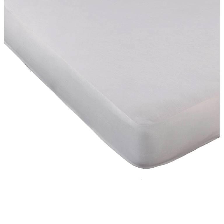 Protector algodón impermeable Ref-7500 (blanco, Cama 090: 090x200 cm)