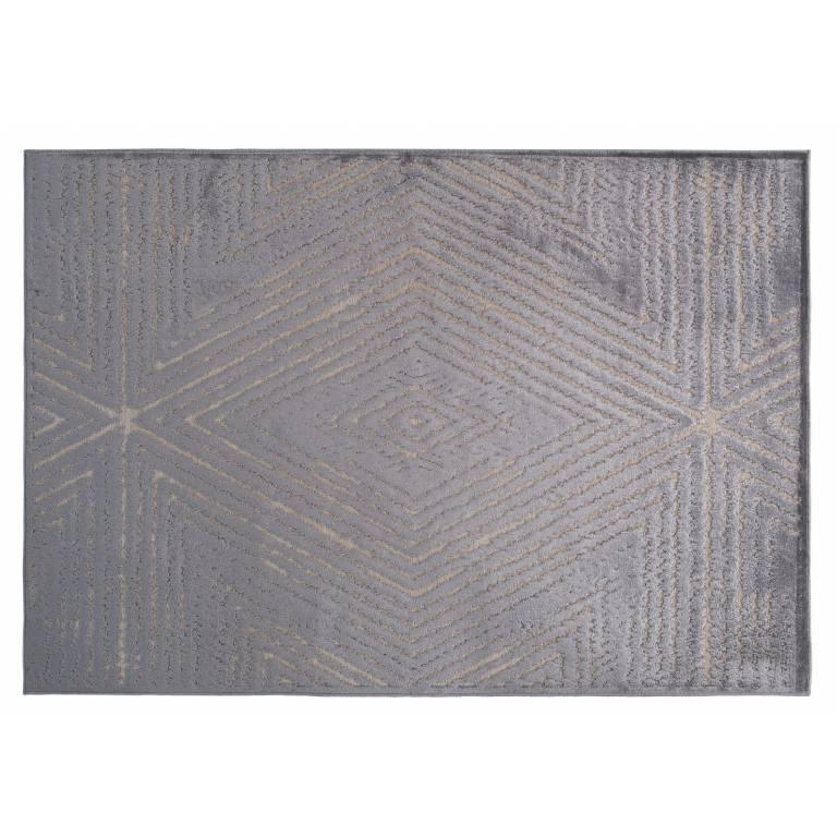 Alfombra Mazy (140x200 cm, gris)