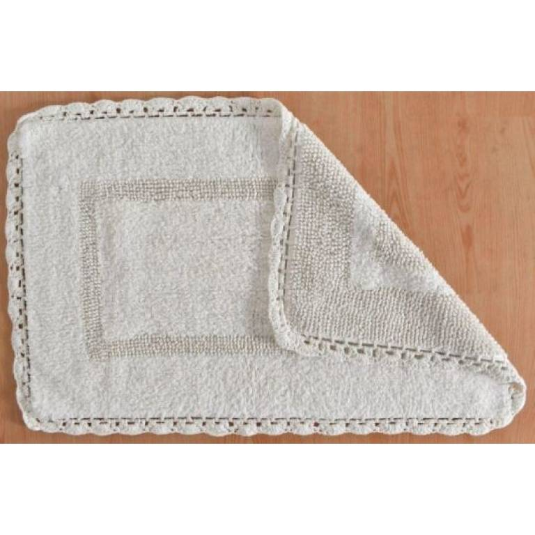 Alfombra de baño Crochet (natural, 50x80 cm)