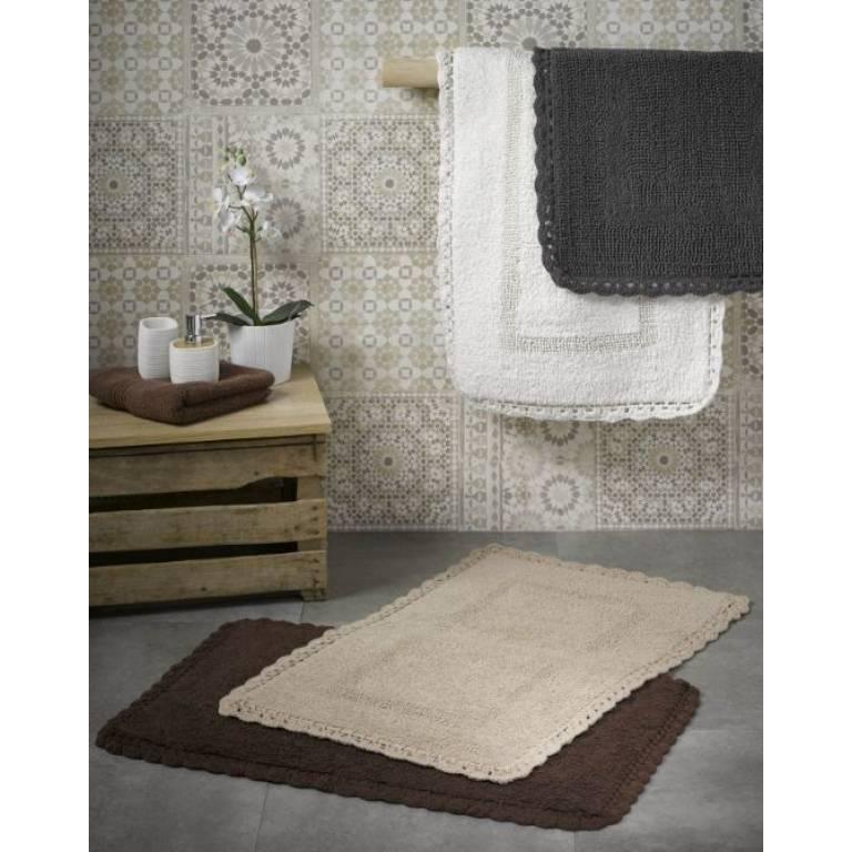 Alfombra de baño Crochet (beige, 50x80 cm)