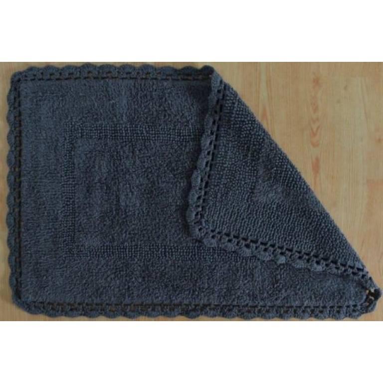 Alfombra de baño Crochet (gris, 50x80 cm)