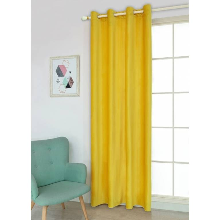Cortina confeccionada Domel (amarillo, 200x260 cm)