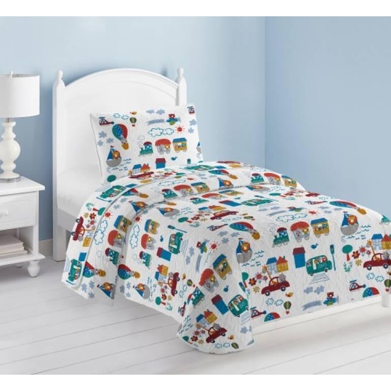 Colcha infantil Lansar (multicolor, Cama 090: 180x270 cm)