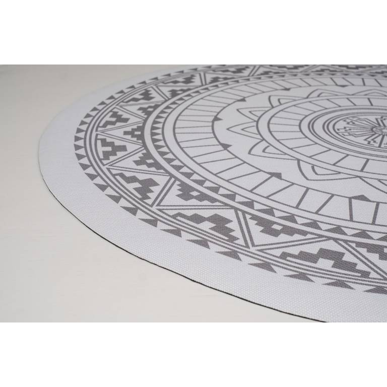 Alfombra de vinilo Worton (gris, Redonda 140 cm)