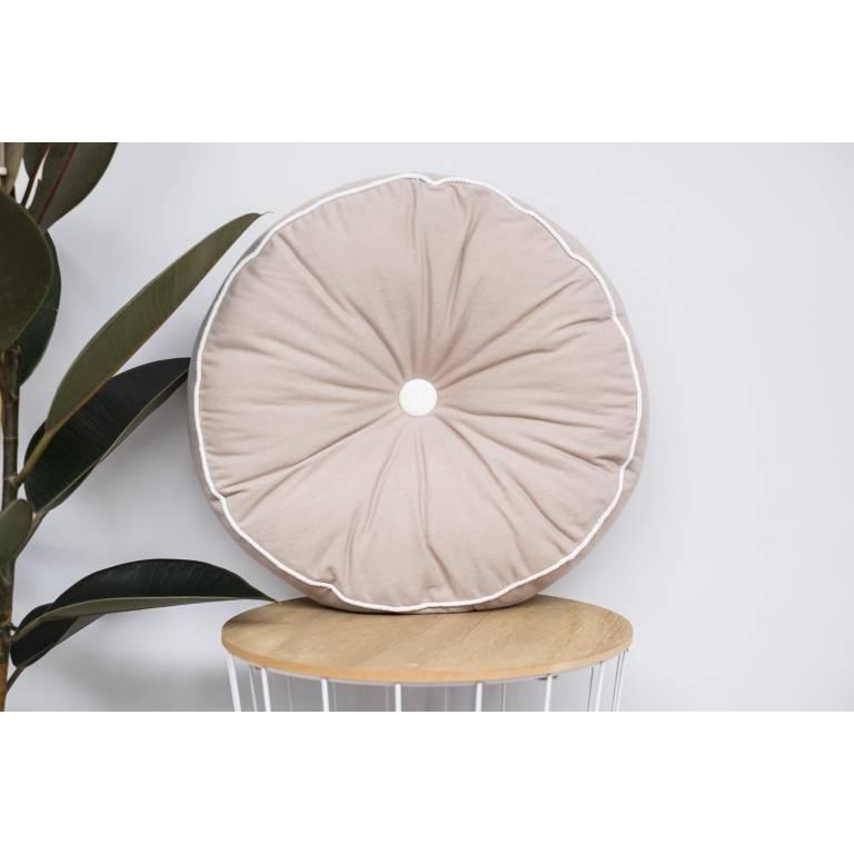 Cojín redondo Timber (beige, 45x45 cm)