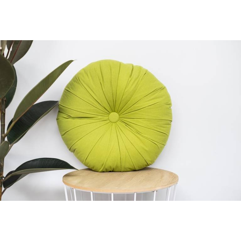 Cojín redondo Loiret (verde, 45x45 cm)