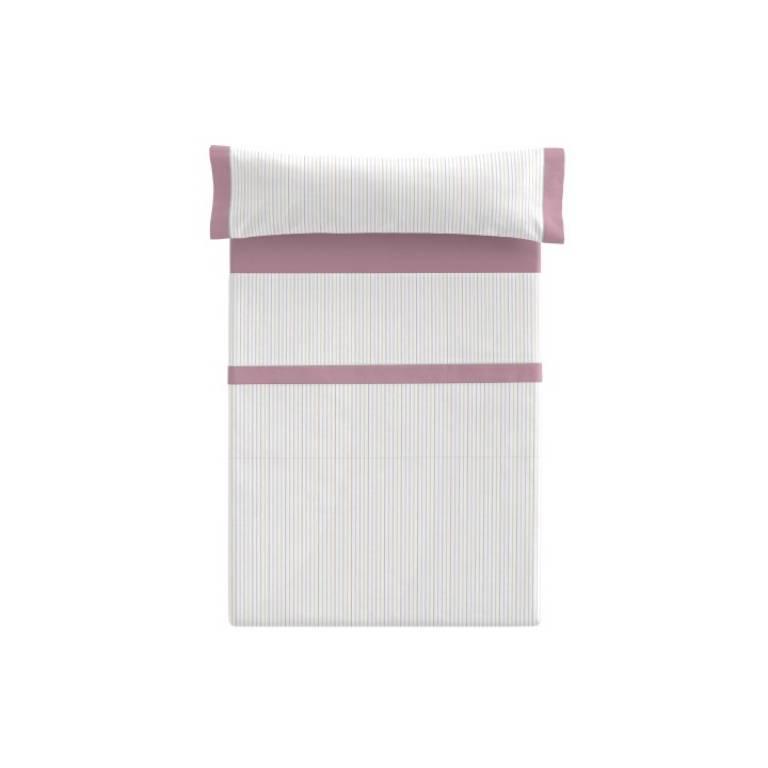 Juego de sábanas Besey (rosa, Cama 090)