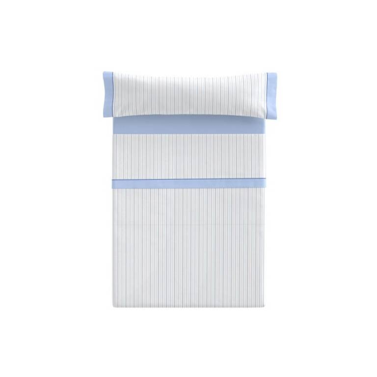 Juego de sábanas Besey (azul, Cama 135)