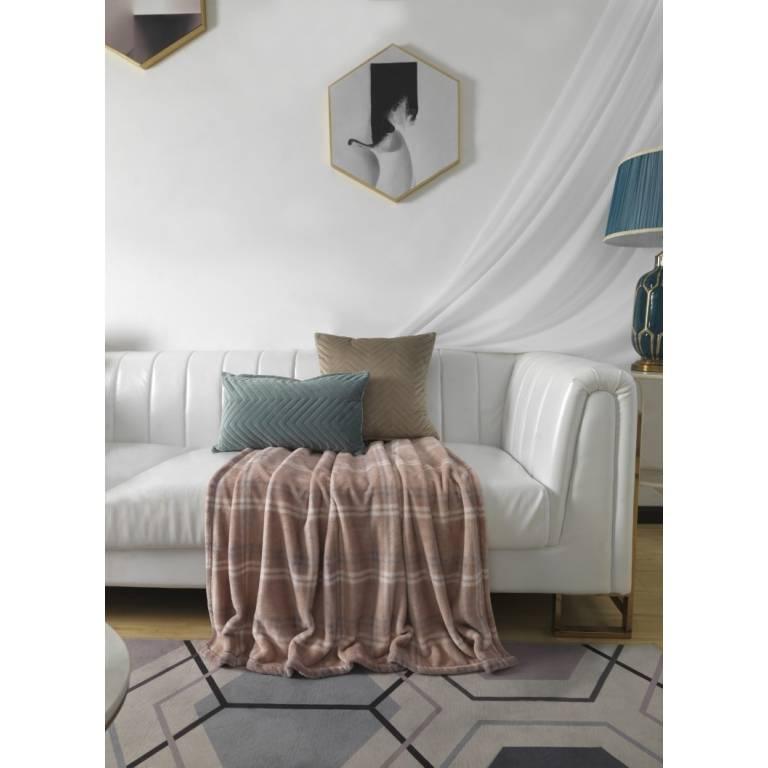 Manta de sofá Plaid Welbar (rosa, 130x170 cm)