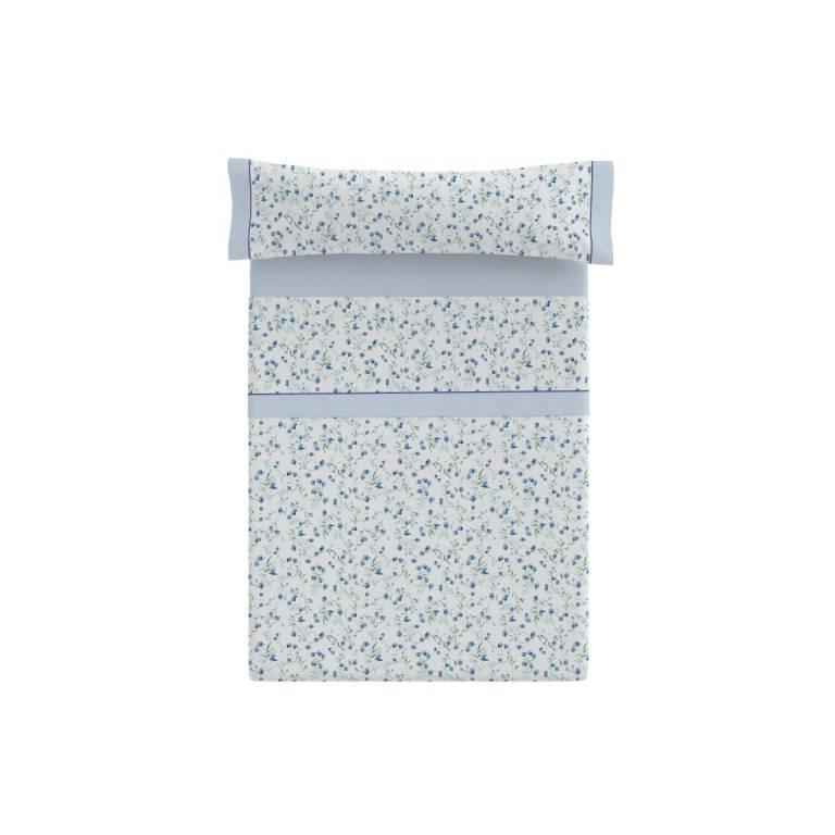 Juego de sábanas Bristol (azul, Cama 180)