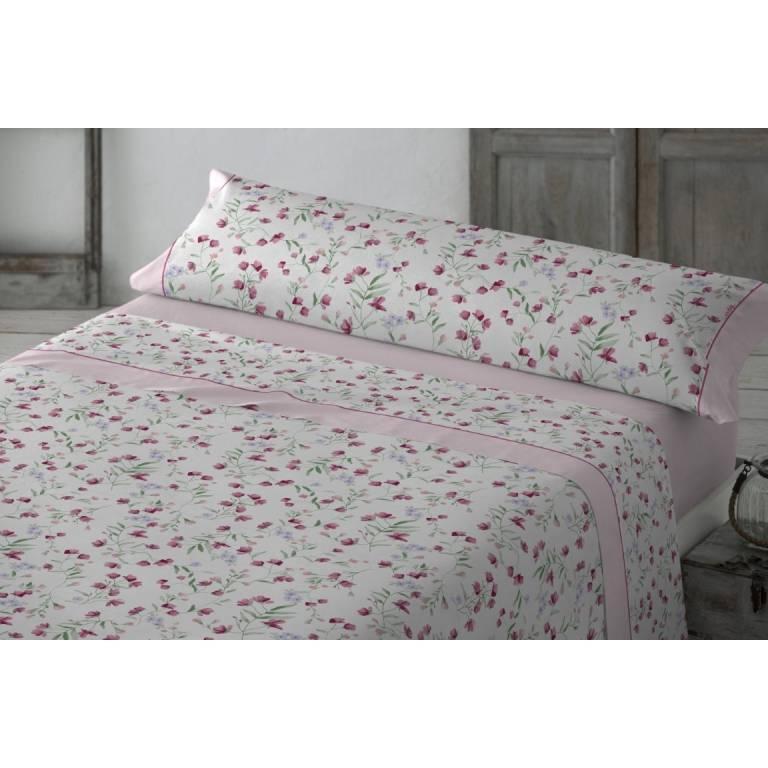 Juego de sábanas Bristol (rosa, Cama 180)