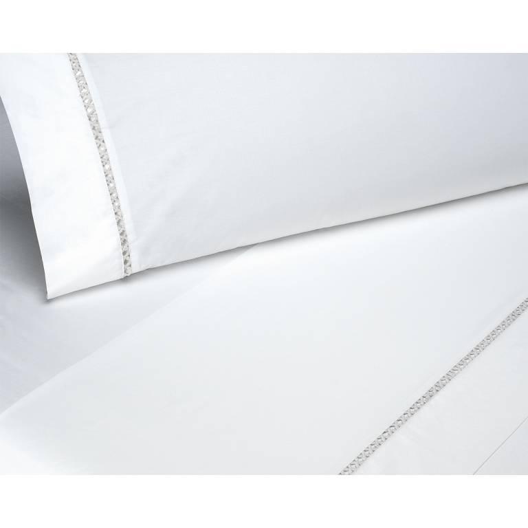 Juego de sábanas Landir (blanco, Cama 150)