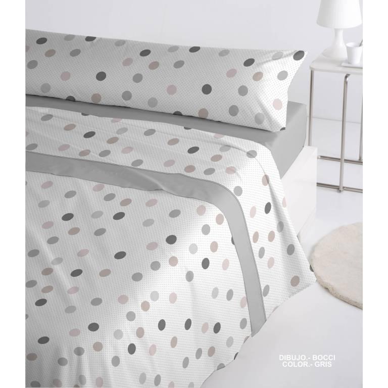 Juego de sábanas Coralina Bocci (gris, Cama 150)