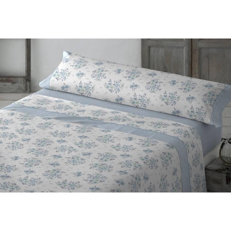 Juego de sábanas Dursal (azul, Cama 090: 160x270 cm)