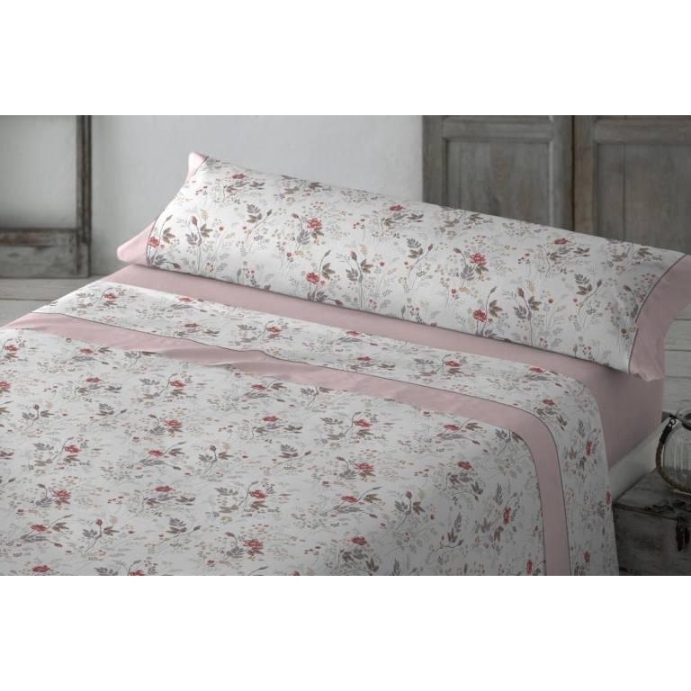 Juego de sábanas Danae (rosa, Cama 090)
