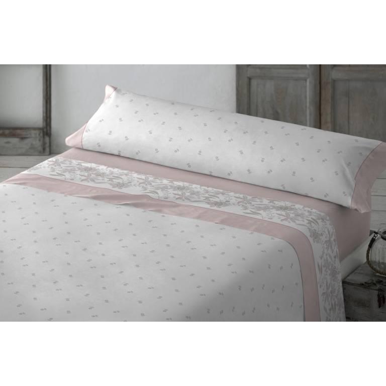 Juego de sábanas Nabal (rosa, Cama 090: 160x270 cm)